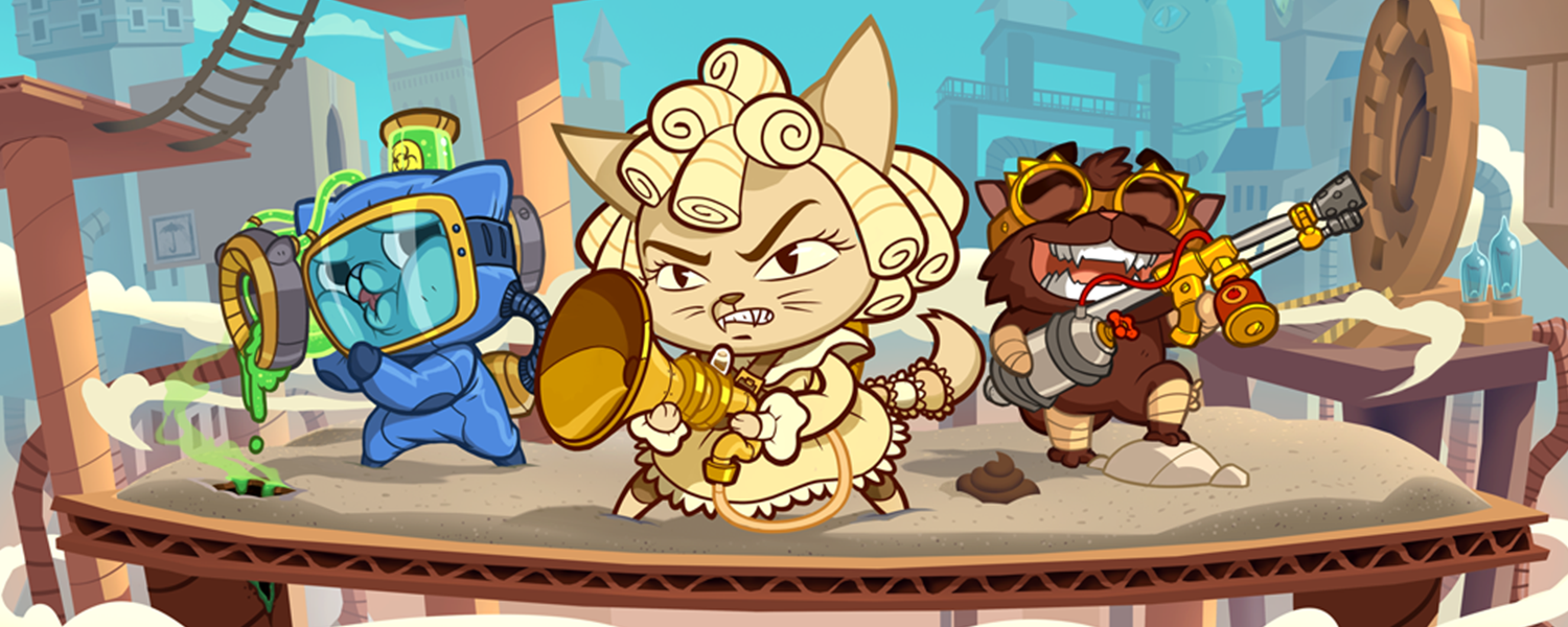 Steampunk meets Cats in a brand new idle RPG mobile game by