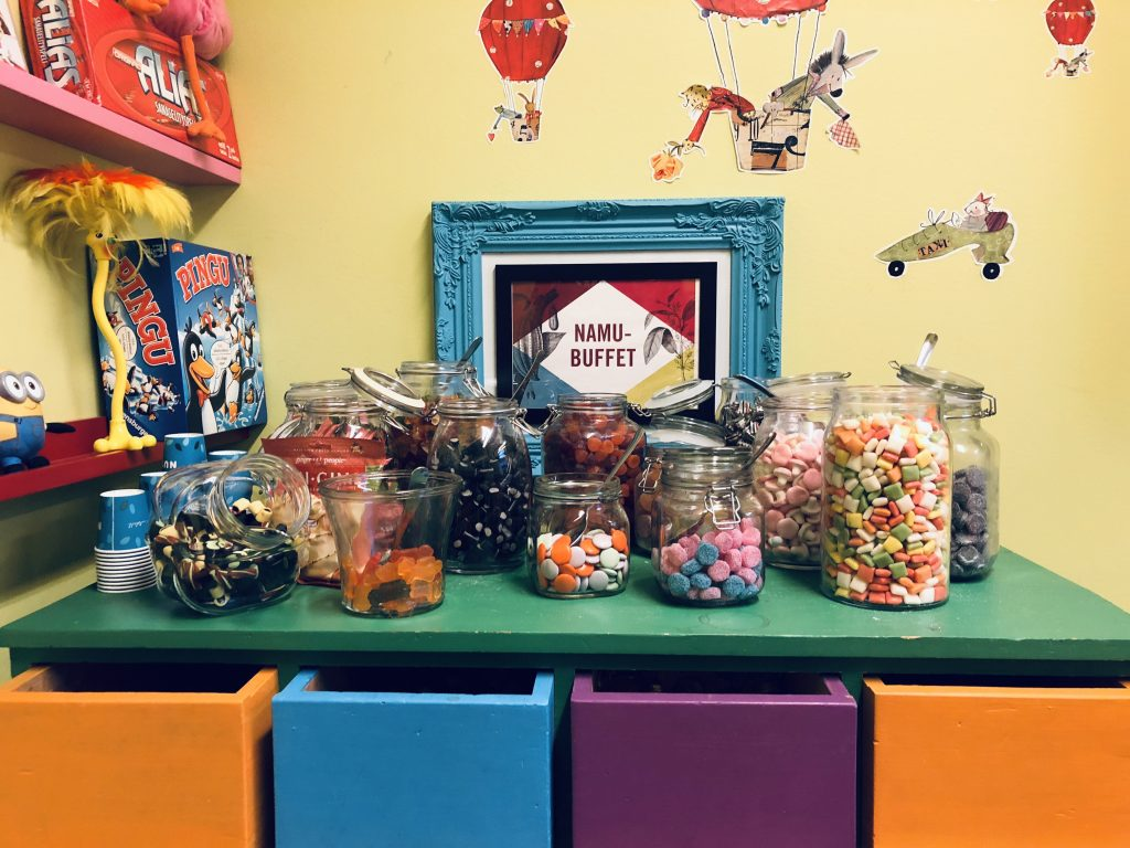 Fínska candy room. Foto: Lucia Šicková
